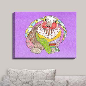 Decorative Canvas Wall Art | Marley Ungaro - Bunny Violet | Rabbit Animals