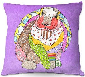 Decorative Outdoor Patio Pillow Cushion | Marley Ungaro - Bunny Violet
