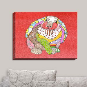Decorative Canvas Wall Art | Marley Ungaro - Bunny Watermelon | Rabbit Animals