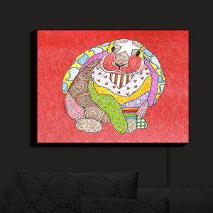 Nightlight Sconce Canvas Light | Marley Ungaro - Bunny Watermelon | Rabbit Animals