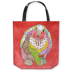 Unique Shoulder Bag Tote Bags | Marley Ungaro - Bunny Watermelon