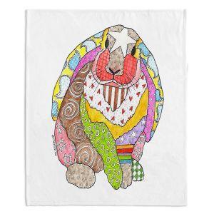 Decorative Fleece Throw Blankets | Marley Ungaro - Bunny White