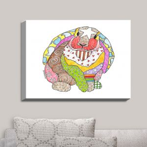 Decorative Canvas Wall Art | Marley Ungaro - Bunny White | Rabbit Animals