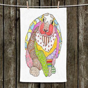 Unique Hanging Tea Towels | Marley Ungaro - Bunny White | Rabbit Animals