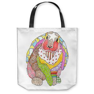 Unique Shoulder Bag Tote Bags | Marley Ungaro - Bunny White