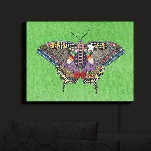 Nightlight Sconce Canvas Light | Marley Ungaro - Butterfly Green