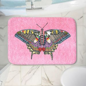 Decorative Bathroom Mats | Marley Ungaro - Butterfly Light Pink | Abstract pattern whimsical