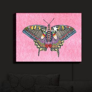 Nightlight Sconce Canvas Light | Marley Ungaro - Butterfly Light Pink