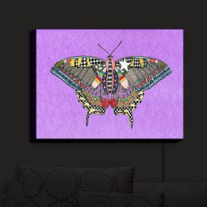 Nightlight Sconce Canvas Light | Marley Ungaro - Butterfly Violet