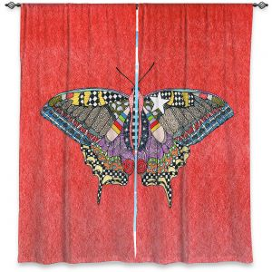 Decorative Window Treatments | Marley Ungaro - Butterfly Watermelon | Abstract pattern whimsical
