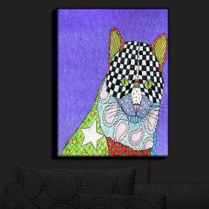 Nightlight Sconce Canvas Light | Marley Ungaro - Cat Indigo