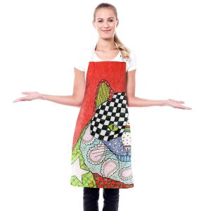 Artistic Bakers Aprons | Marley Ungaro - Cat Watermelon | Cat Animals Colorful