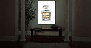Unique Illuminated Wall Art 20 x 16 from DiaNoche Designs by Marley Ungaro - Chanel No 5