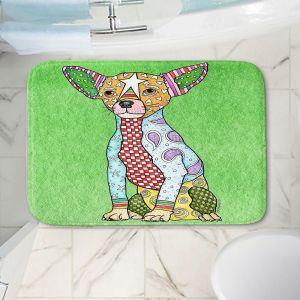 Decorative Bathroom Mats | Marley Ungaro - Chihuahua Dog Green