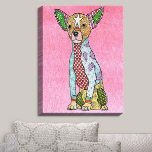Decorative Canvas Wall Art   Marley Ungaro - Chihuahua Dog Light Pink