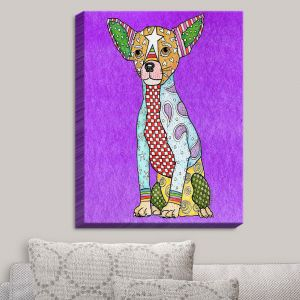 Decorative Canvas Wall Art | Marley Ungaro - Chihuahua Dog Purple