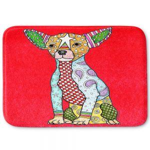 Decorative Bathroom Mats | Marley Ungaro - Chihuahua Dog Red