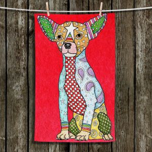 Unique Bathroom Towels | Marley Ungaro - Chihuahua Dog Red