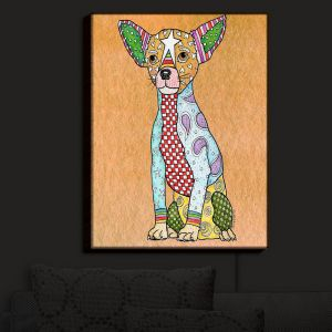 Nightlight Sconce Canvas Light | Marley Ungaro - Chihuahua Dog Tan