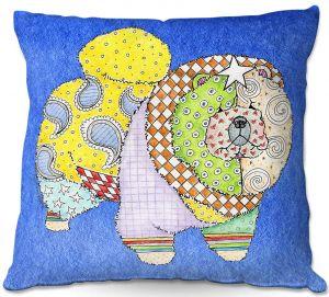 Throw Pillows Decorative Artistic | Marley Ungaro - Chow Blue
