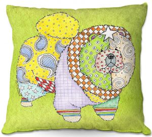 Decorative Outdoor Patio Pillow Cushion | Marley Ungaro - Chow Lime