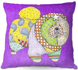 Throw Pillows Decorative Artistic | Marley Ungaro - Chow Purple