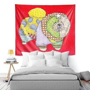 Artistic Wall Tapestry   Marley Ungaro - Chow Red