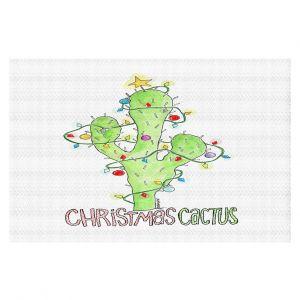 Decorative Floor Covering Mats   Marley Ungaro - Christmas Cactus   Christmas Lights