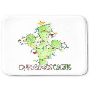 Decorative Bathroom Mats | Marley Ungaro - Christmas Cactus | Christmas Lights