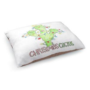 Decorative Dog Pet Beds   Marley Ungaro - Christmas Cactus   Christmas Lights