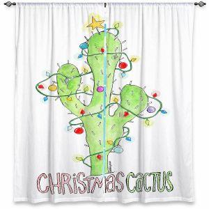 Decorative Window Treatments | Marley Ungaro - Christmas Cactus | Christmas Lights