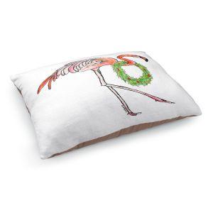 Decorative Dog Pet Beds   Marley Ungaro - Christmas Wreath Flamingo   Christmas Wild Animals