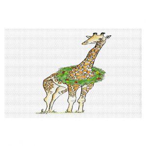 Decorative Floor Covering Mats   Marley Ungaro - Christmas Wreath Giraffe   Christmas Wild Animals