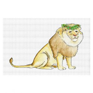 Decorative Floor Covering Mats   Marley Ungaro - Christmas Wreath Lion   Christmas Wild Animals