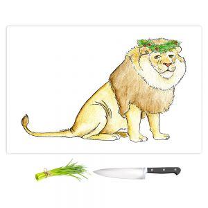Artistic Kitchen Bar Cutting Boards | Marley Ungaro - Christmas Wreath Lion | Christmas Wild Animals