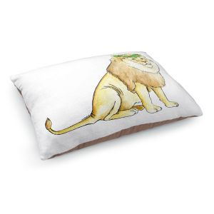 Decorative Dog Pet Beds | Marley Ungaro - Christmas Wreath Lion | Christmas Wild Animals