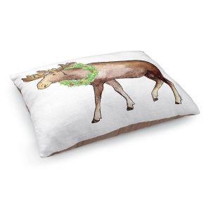 Decorative Dog Pet Beds   Marley Ungaro - Christmas Wreath Moose   Christmas Wild Animals