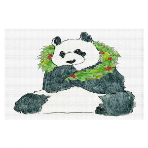 Decorative Floor Covering Mats   Marley Ungaro - Christmas Wreath Panda   Christmas Wild Animals