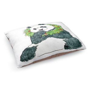 Decorative Dog Pet Beds | Marley Ungaro - Christmas Wreath Panda | Christmas Wild Animals