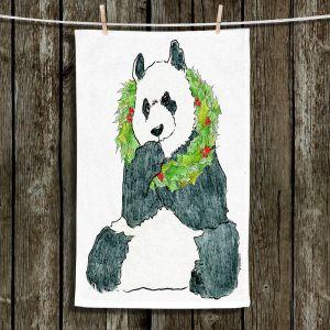 Unique Hanging Tea Towels | Marley Ungaro - Christmas Wreath Panda