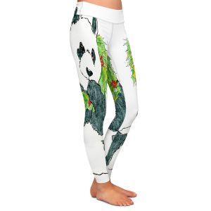 Casual Comfortable Leggings | Marley Ungaro - Christmas Wreath Panda