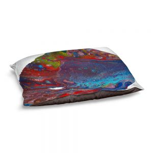 Decorative Dog Pet Beds | Marley Ungaro - Abstracts Blues Red | Abstract Rocks Gemstones