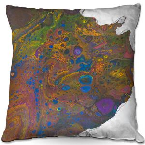 Throw Pillows Decorative Artistic | Marley Ungaro - Abstracts Purple Gold | Abstract Rocks Gemstones