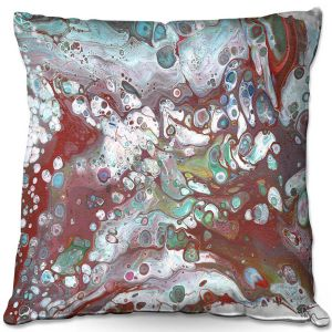 Throw Pillows Decorative Artistic | Marley Ungaro - Abstracts Rust Aqua | Abstract Rocks Gemstones