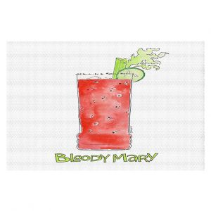 Decorative Floor Covering Mats | Marley Ungaro - Cocktails Bloody Mary | Water color still life class drink alcohol