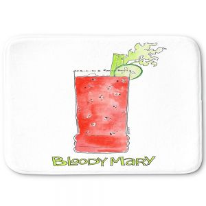 Decorative Bathroom Mats   Marley Ungaro - Cocktails Bloody Mary   Water color still life class drink alcohol