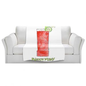 Artistic Sherpa Pile Blankets | Marley Ungaro - Cocktails Bloody Mary | Water color still life class drink alcohol