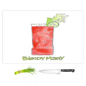 Artistic Kitchen Bar Cutting Boards | Marley Ungaro - Cocktails Bloody Mary | Water color still life class drink alcohol
