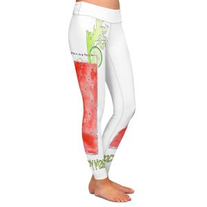 Casual Comfortable Leggings | Marley Ungaro - Cocktails Bloody Mary | Water color still life class drink alcohol