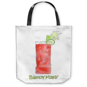 Unique Shoulder Bag Tote Bags | Marley Ungaro - Cocktails Bloody Mary | Water color still life class drink alcohol